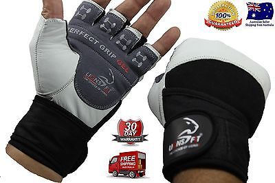 LionsFit Gym BodyBuilding Fitness Weightlifting Exercise gloves with Wrist Strap