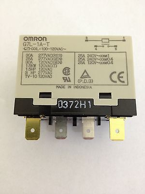 X1 OMRON G7L-1A-T 100-120VAC General Purpose Relay