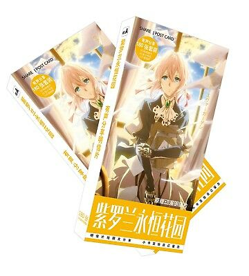Anime Violet Evergarden Postcard Collection 180 Post Card + Sticker Gift Cosplay
