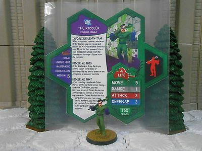 Heroscape Custom The Riddler Double Sided Card & Figure w/ Sleeve DC