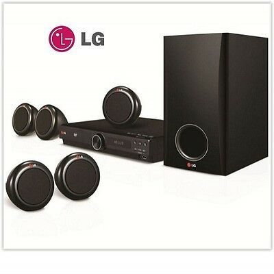Home Cinema System LG Theater 5.1 Surround Sound Subwoofer Black Dvd Easter Gift