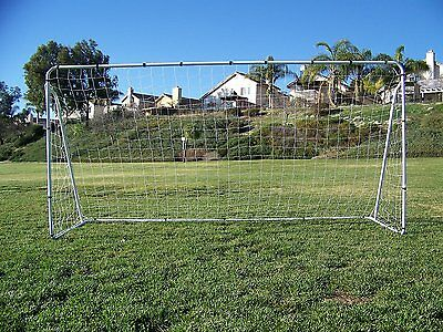 PASS 12 x 6 Foot Steel Soccer Goal w/ Quality Net, Velcro Straps & Anchors.