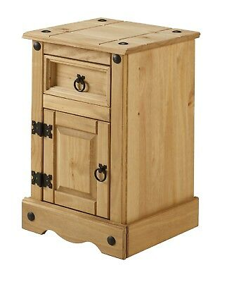 Corona Pot Cupboard Bedside Table Cabinet Mexican Pine by Mercers Furniture