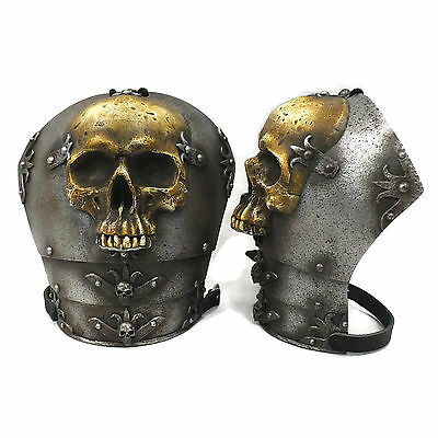 Larp Armour Ominous Skull Spaudlers pauldrons shoulders