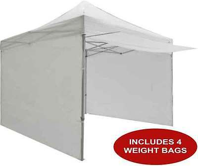 10x10 EZ Pop Up Canopy Tent Instant Canopy Commercial w/Sidewalls & Weight Bags