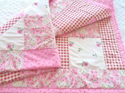 Patchwork Quilting Kit Cot Baby Blanket Complete Quilt Sewing Craft Kit