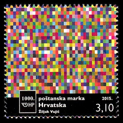 Croatia 2015 - 1000th Postage Stamp Issued  Modern Art - MNH