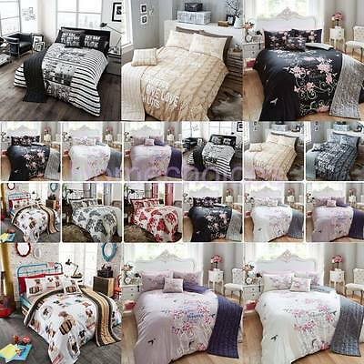 5pc Bed in a Bag Duvet Cover Set and  Pillow Cases Double and King Sizes