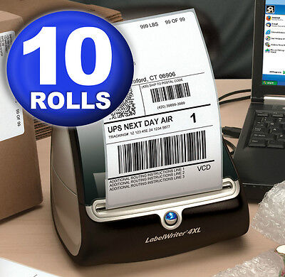 DYMO 4XL Direct Thermal Shipping Labels 4x6 ( 10 rolls )  1744907 compatible