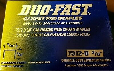 """Duo-Fast 7512-D 3/8"""" Staples 5,000/Box (6 boxes )"""