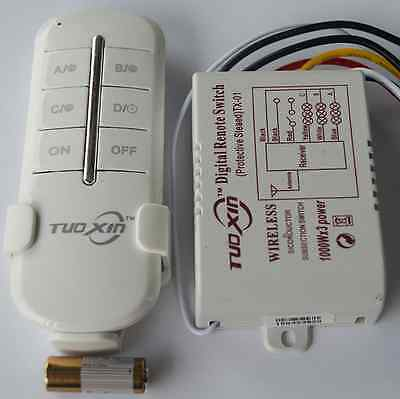 3-Way ON/OFF 220V-240V Light Digital Wireless Wall Switch with Remote Control