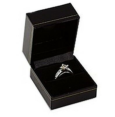 1 Black Classic Ring Jewelry Display Presentation Gift Boxes