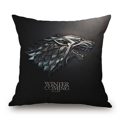 Game of Thrones Badge Tully Arryn Greyjoy Tyrell Stark Pillow Cushion Cover-001