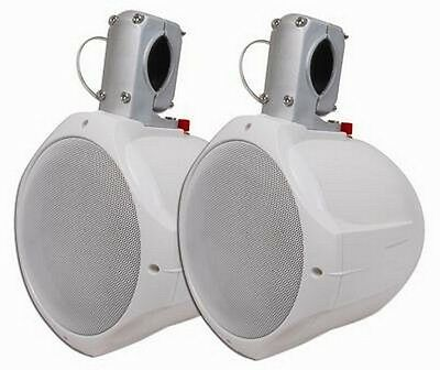 "MCM Custom Audio 60-10020  6 1/2"" Marine Wakeboard Two-Way Speaker Pair - White"