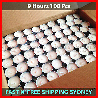 Tea Light Candles 9 Hour 100pcs Bulk Tealight Candle Tea Lights Tealights White