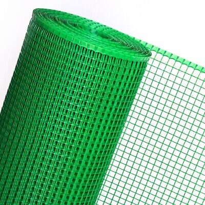 PLASTIC FENCE green in 0,6m Height Square mesh 15mm Poultry (SOLD BY THE METRE)