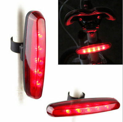UK Cycling Night Super Bright Red 5LED Rear Tail Light FA Bike Bicycle Lamp