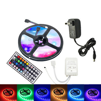 5M led strip,3528SMD , 44key Remote Controller,12V EU US Power ,