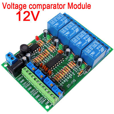 12V 4CH Voltage comparator Module Relay Control Switch for Car circuit testing