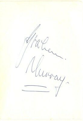Graham Murray signed autograph album page 1970s Australian rugby player / coach