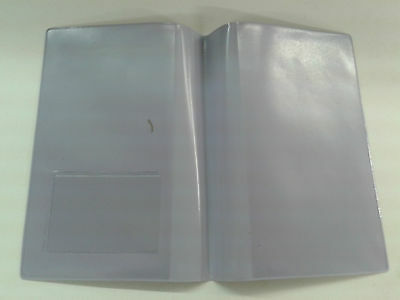 Lilac Leather Look Mot Holder / A4 Holder With Clear On Outside