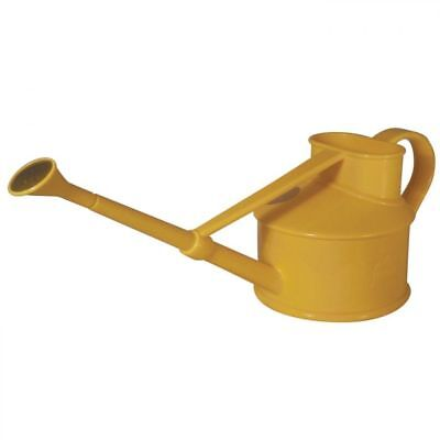 Haws Yellow Plastic Handy Indoor Watering Can with Rose Attachment 0.7 Litre
