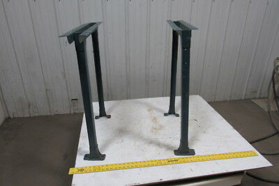 "Industrial Steel Shop Table Legs Workbench Conveyor Legs 31-1/4"" Tall Lot of 2"