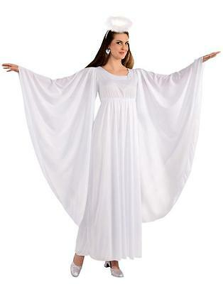 Women's Angel White Adult Dress and Halo Standard Size Costume