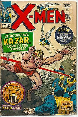 X-Men 10 Marvel Silver Age 1965 First Silver Age Ka-Zar and Zabu 1st Maa-Gor