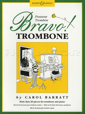 Bravo! For Trombone More than 20 Pieces Sheet Music Book