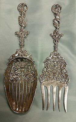 Antique German B. Neresheimer & Söhne Silver Serving Set