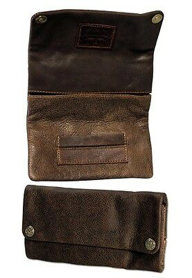 Kavatza Mary Leather Tobacco Pouch Smoking Paper Slot Rolling Purse Case