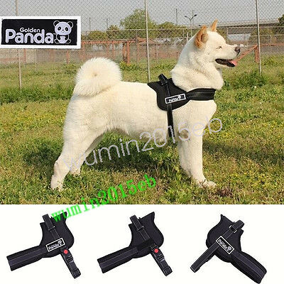 S,M, L ,XL Adjustable Soft Padded Mesh Non Pull Dog Harness Vest-UK Stoct