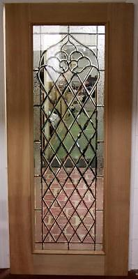 Beautiful Cut Stained Glass  Mahogany Entry Door Blow Out Sale!!!!!