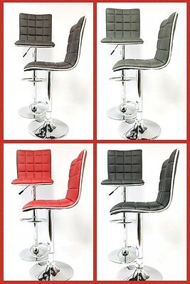 Modern set of (2) Adjustable Swivel Bar Stools Chairs