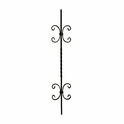 Aleko 37.5 In. X 6.75 In. Black Finish Metal Baluster #016 2 Pack