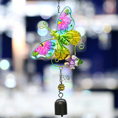 Amazing Copper Bells Butterfly Wind Chimes Yard Garden Outdoor Living Home Decor