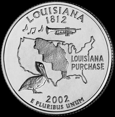 "2002 D Louisiana State Quarter New U.S. Mint ""Brilliant Uncirculated"""