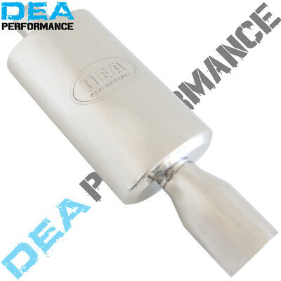 "3"" INCH STAINLESS STEEL MUFFLER 8"" x 5"" OVAL 14"" LONG WITH TIP (WLM26)"