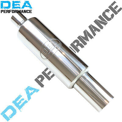 """Stainless Steel Sports Cannon Muffler With Removable Silencer 2.5"""" Inlet"""