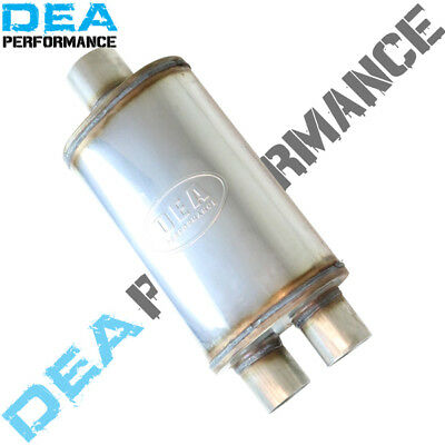 """Dea Stainless Steel Muffler-Universal Fitment Inlet 3""""/outlet 2.5"""" Inch"""