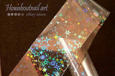 """Galaxy on clear"" transfer nail foil 1 meter"
