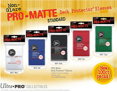 100 Ultra Pro Pro-Matte Deck Protector Card Sleeves Magic Pokemon Standard Size