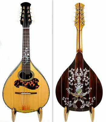 Alulu Small Arch Back Solid Spruce Top Indian Rosewood Classical Inlay NFMIA