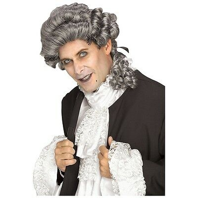 Thy Wicked Court Costume Wig Adult Men Colonial 18th C Halloween Fancy Dress