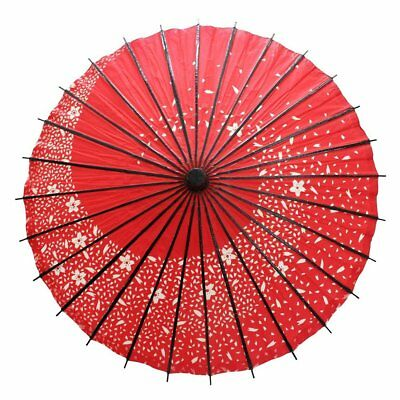 Japanese paper umbrella;ODORIGASA SAKURA FUBUKI red bamboo from japan