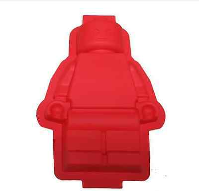Silicone Chocolate Candy Large Lego Man Robot Cake Soap Mold Backing Pan Tray