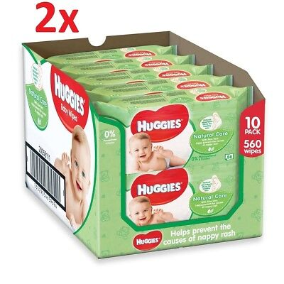 Huggies Natural care baby Wipes 20 packs x 56 wipes = 1120 wipes. Bulk Buy Save!