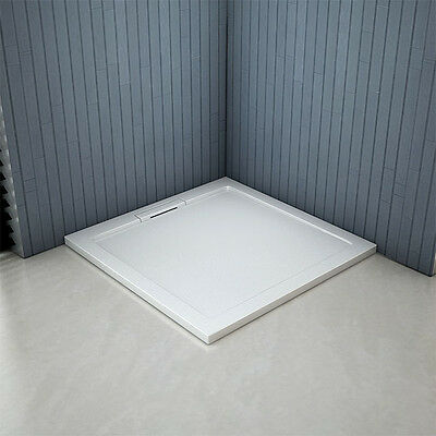 Aica 40mm slimline shower enclosure tray hidden waste quadrant rectangle square