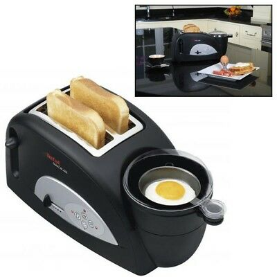 Tefal Toast N' Egg 2 Slice Toaster Poached Boiled Egg Maker Boiler And Poacher